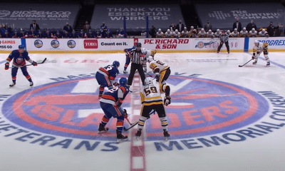 Islanders Penguins faceoff