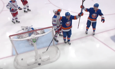 Kyle Palmieri scores his first goal as a member of the New York Islanders