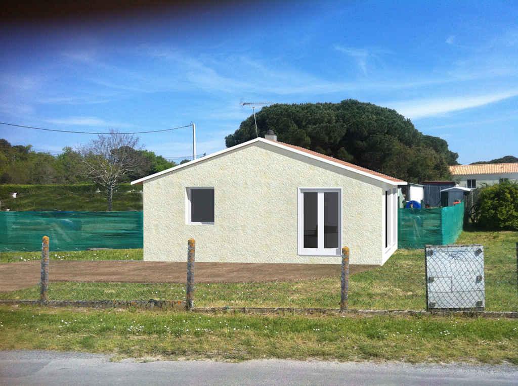 Maison à Mérignac intégration paysagère