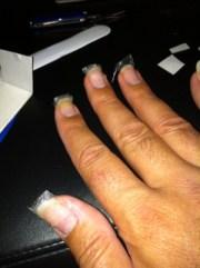 silk wrap nails nylon live