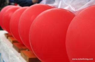 Gavin Turk exhaust-filled balloons