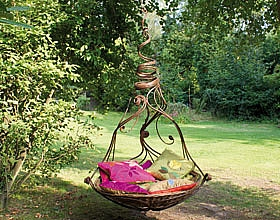 copper garden swing