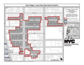 Map of East Village/Lower East Side Historic District. Credit: LPC