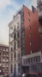 Rendering of 74 Grand Street proposal.