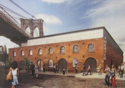 Rendering of proposed St. Ann's Warehouse theater in Brooklyn's Tobacco Warehouse. Image Credit: Rogers Marvel Architects.