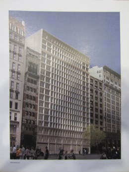 Rendering of proposed building on 7 West 21st Street, New York, NY. Image Credit: MA.com.