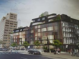 Rendering of proposed development on 100 Franklin Street in Tribeca, Manhattan. Image Credit:  DDG Partners. Image Courtesy of the Historic Districts Council.