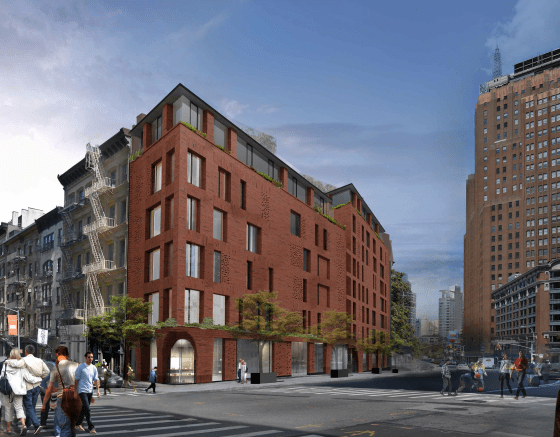 Updated rendering of 100 Franklin Street in the Tribeca Historic District. Image Courtesy of DDG.