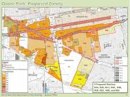 Map of proposed rezoning in Ozone Park, Queens. Image courtesy of Department of City Planning.