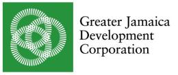 Greater Jamaica Development Corporation logo. Image courtesy of: GJDC.