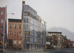 New rendering of 130 Seventh Avenue South in Greenwich Village, Manhattan. Image Credit: BKSK Architects.