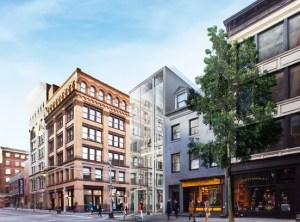 Rendering of the proposed glass building on 144 Spring St., Manhattan. Image credit: Bohlin Cywinski Jackson.