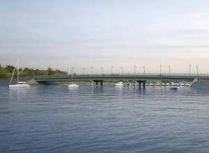 Rendering of the new causeway design of City Island Bridge. Image credit: DOT.