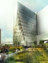Solar Carve Tower Rendering. Image Credit Studio Gang Architects.