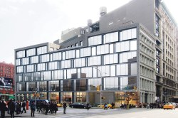 A rendering of the proposed building at 19 East Houston Street.  Image credit:  Perkins Eastman
