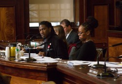 Council member Jumaane D. Williams chairs the oversight hearing on 421-a tax exemptions. Image credit: William Alatriste/New York City Council