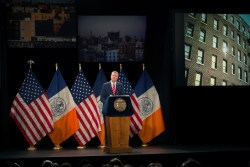 Mayor Bill de Blasio delivers the 2015 State of the City address at Baruch College. Image Demetrius Freeman/Mayoral Photography Office