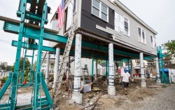 Recently-approved text amendment streamlines the elevation process for homes in the flood zone.  Image credit: Rosanna Arias/FEMA