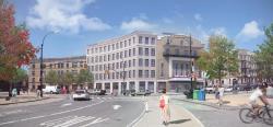 Architect's rendering of the Pavilion Theater development.  Image credit:  Morris Adjmi Architects