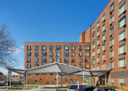 Borinquen Court's Main Entrance. Image credit: West Side Federation for Senior and Supportive Housing, Inc.