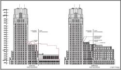 Rendering of 1 Wall Street proposal. Image credit: Macklowe Properties/Robert A.M. Stern Architects/SLCE Architects