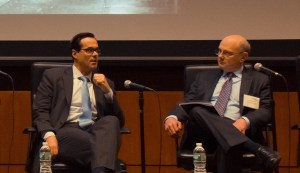 Anthony Crowel, Dean & President of New York Law School talks with James Hagy, Image Credit: NYLS.