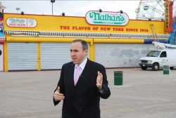 New York City Council Member Mark Treyger standing on the Coney Island Boardwalk. Image credit: Council Member Treyger's Office