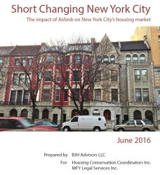 The cover page of the report jointly issued by Housing Conservation Coordinators Inc. and MFY Legal Services Inc. Image credit: BJH Advisors LLC