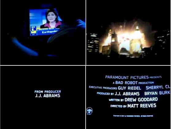 Screencaps of Cloverfield trailer