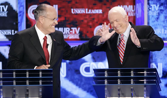Rudy Giuliani and John McCain