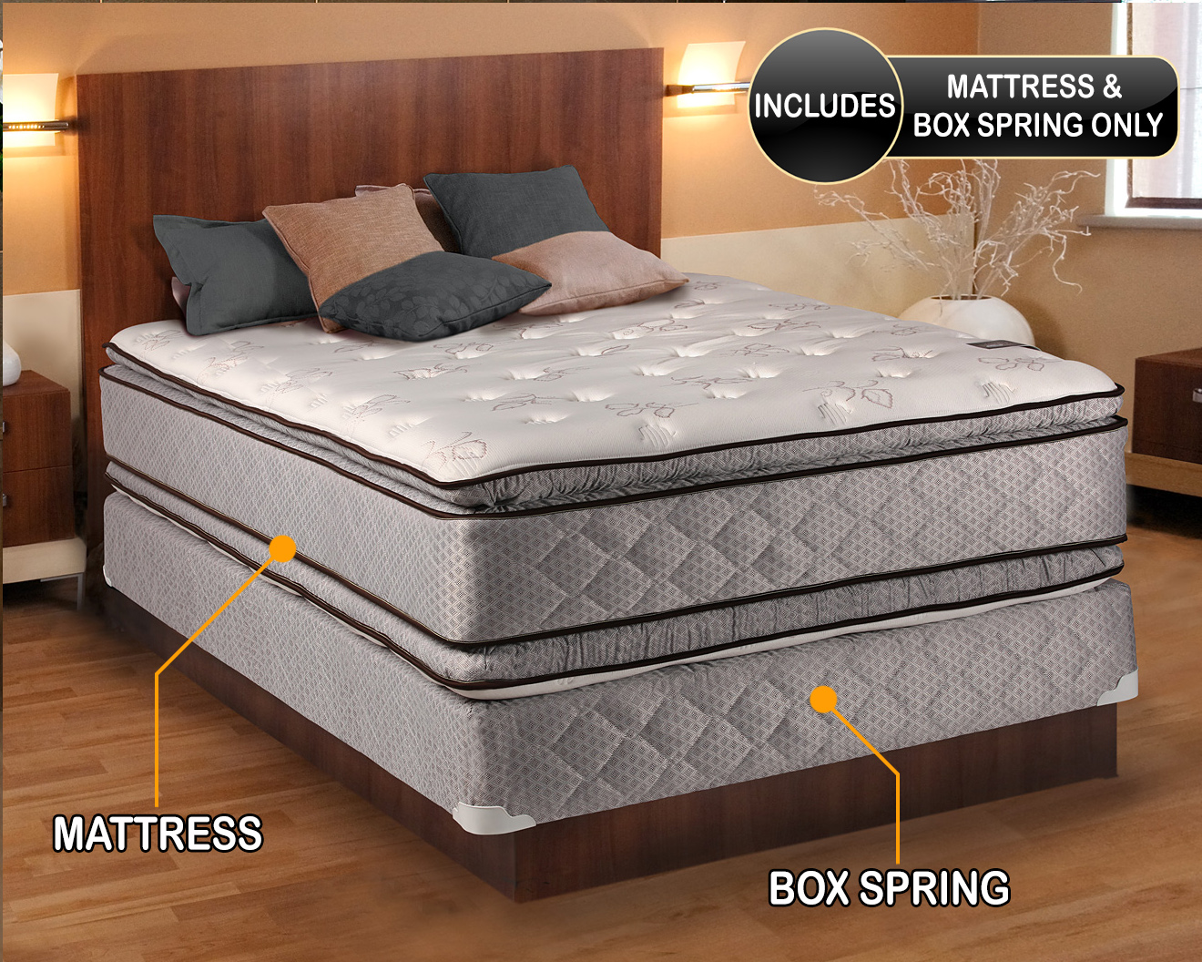 double sided pillow top king mattress