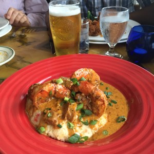 East coast grits and shrimp