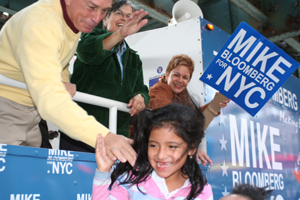 Mayor Bloomberg on Campaign Bus in Queens. (Photo by Maurice Pinzon)