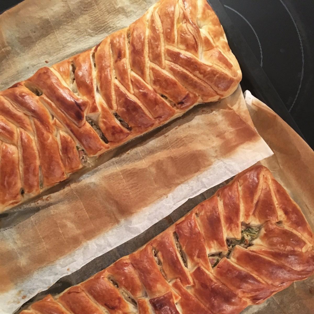 Skinkestang med pikantost og champignon: en retro-ret