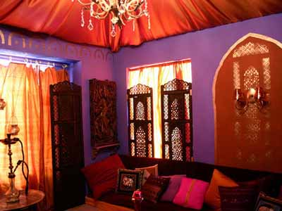moroccan bedroom gold purple Decor: Moroccan Theme
