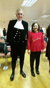 The High Sheriff of Leicestershire. Believe me, I am not being arrested.