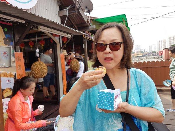 durian, cream, choux, Penang,
