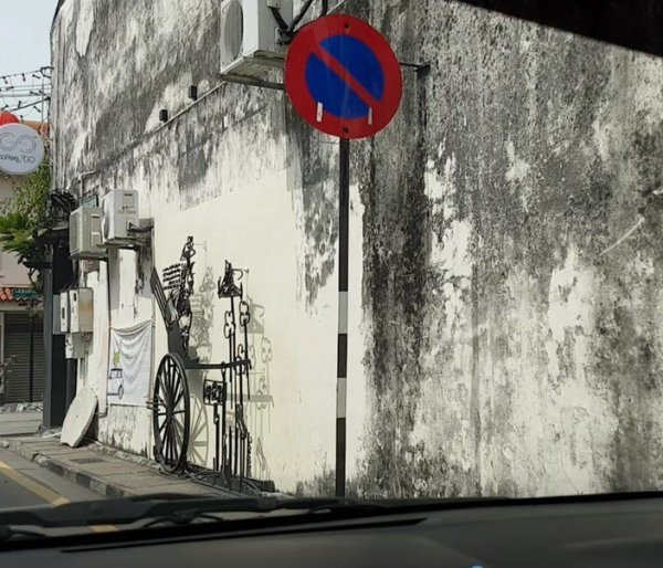 Penang Street Art, bicycle, George Town