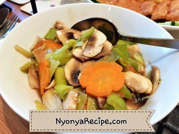 leek, vegetarian, stir-fry, Penang, Nyonya, Chinese,