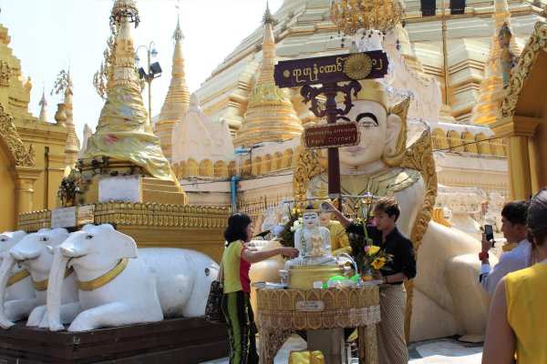 Buddhist temple, Swedagon, Yangon, Pagoda, temple,