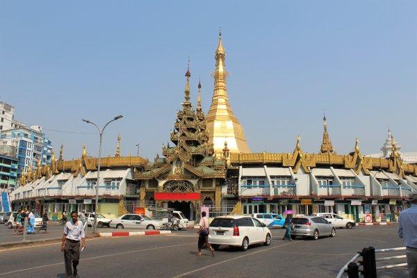 Sule temple, Yangon, Myanmar, Burma,