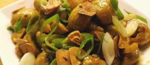 Garlic Honey Mushroom