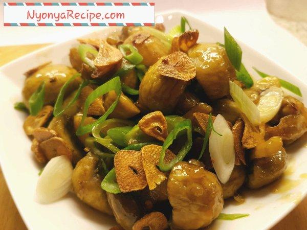 mushroom, honey, garlic