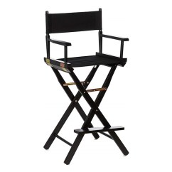 Directors Chair Bar Stool Folding Bag Chairs B1 Stools Black With Frame For Rent