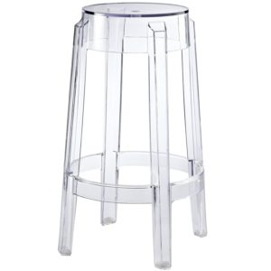 ghost chair bar stool adec performer dental manual stools clear backless for rent party rentals nyc new