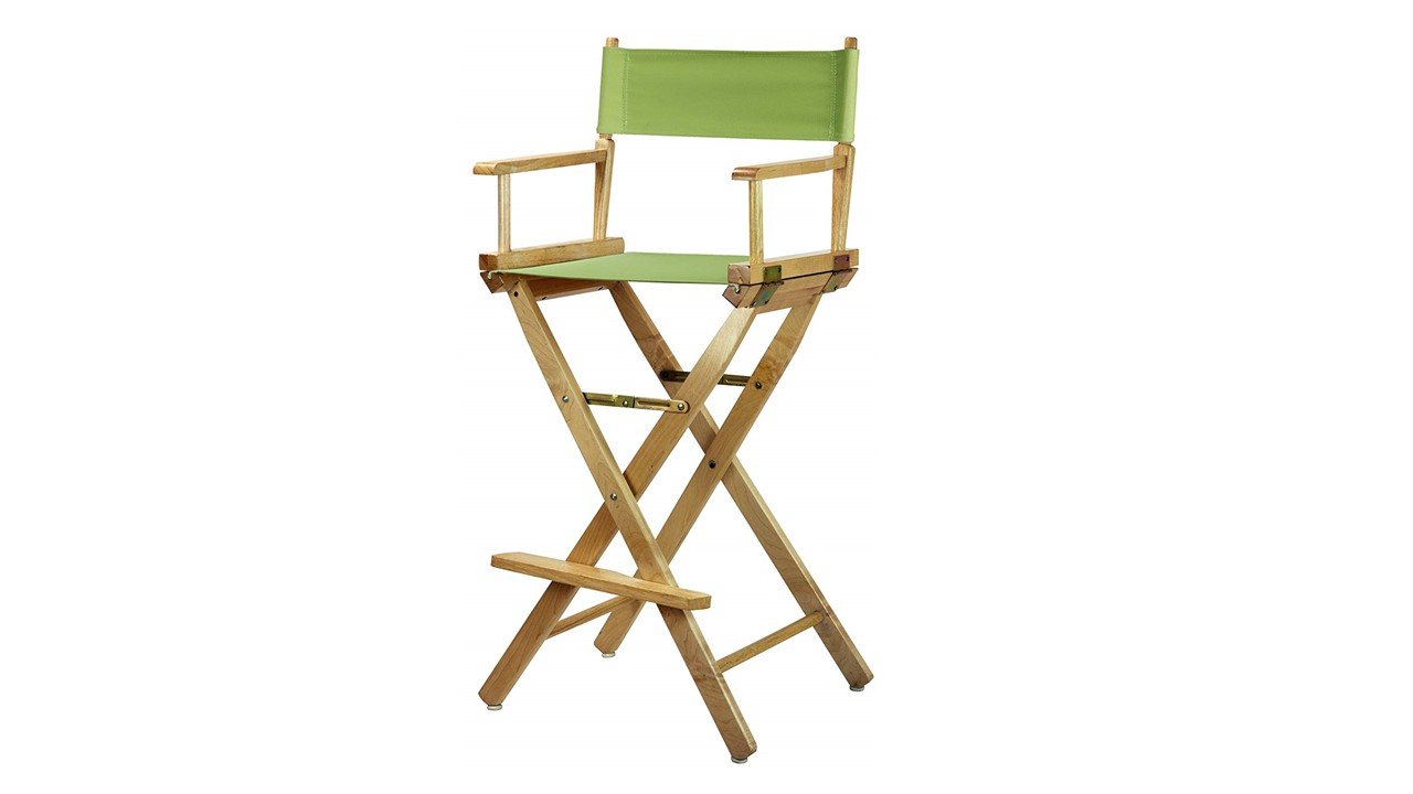 Lime Green Chairs Bar Stools Directors Chairs Natural Frame Canvas Bar Height Lime Green