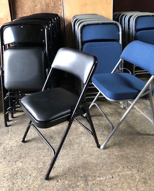 renting folding chairs swing chair dublin executive corporate blue for rent party rentals nyc