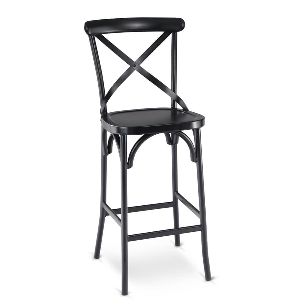 chair stool black wicker folding chairs cross back bar stools party rentals nyc new york