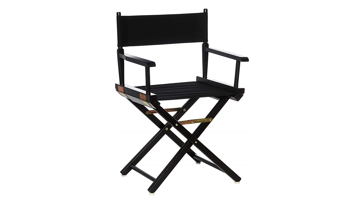 Black Directors Chair Directors Chairs 18 Black Frame With Black Canvas