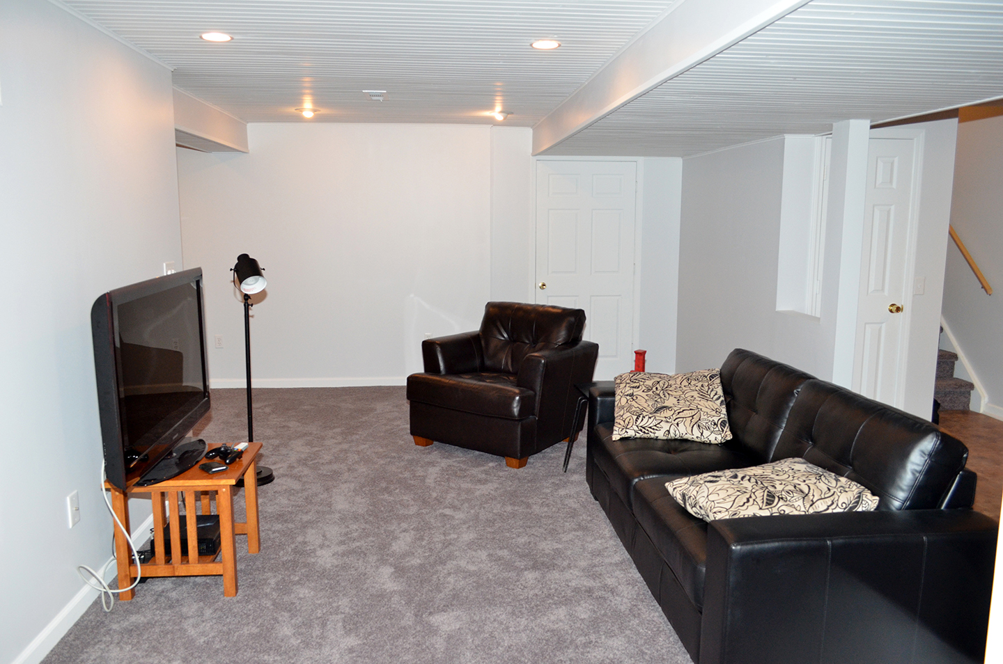 Basement Remodel With Kitchen And Bedroom Patriot Construction